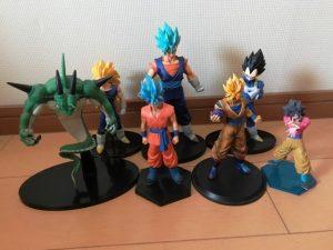 đấu giá bộ mô hình đồ chơi Dragon ball trên yahoo japan